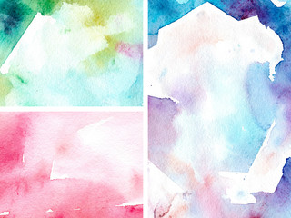 Abstract watercolour gradient textures for concept design. Abstract colorful gradient. Abstract watercolor. Space background. Watercolor bright concept.