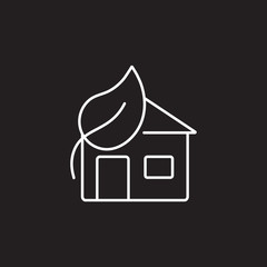 Eco house icon. Simple element illustration. Eco house symbol design from Ecology collection set. Can be used in web and mobile