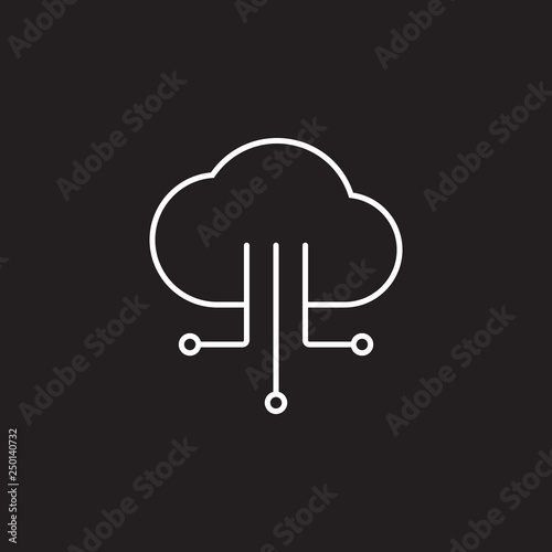 Cloud IOT Internet of Things icon  Simple element