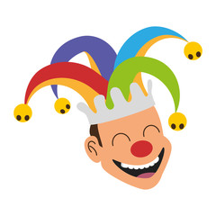 jester face with hat