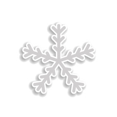 snowflake sticker icon. Elements of Chrismas in color icons. Simple icon for websites, web design, mobile app, info graphics