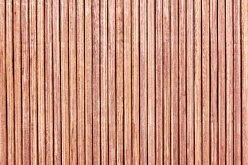 Wooden lines pattern background. Table mat closeup texture. Asian bamboo sticks backdrop.