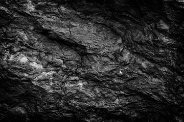 Black stone background and texture