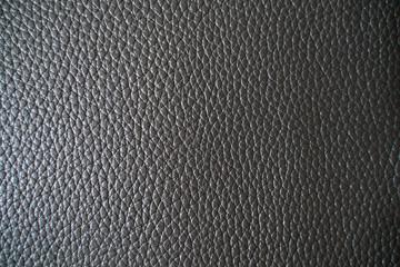 Genuine fullgrain black leather texture