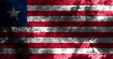 Old Liberia grunge background flag