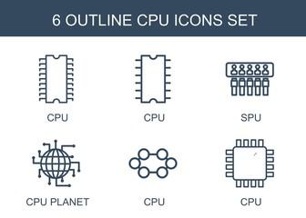 6 cpu icons
