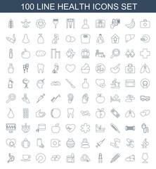 100 health icons