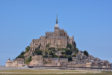 Le Mont Saint-Michel tidal island Normandy northern France Wall mural