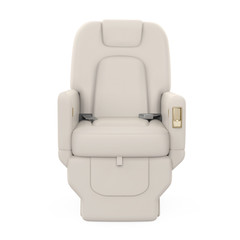 Private Jet Seat Isolated