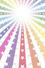 イメージ素材,カラフル,虹色,打上げ花火,星屑,キラキラ,光,ゲーム,希望,チャンス,楽しい,明るい