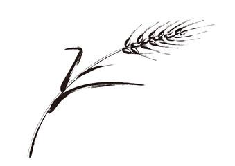 線画4:麦のイラスト