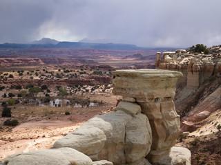 Colorful Canyon Walls at the San Rafael Swell in Utah