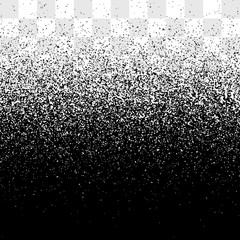 Grain gradient vector transparent background, black and white old noise texture, grainy backdrop effect clipart