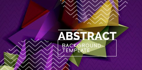 Triangular low poly background design