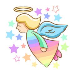 Angel cartoon clipart