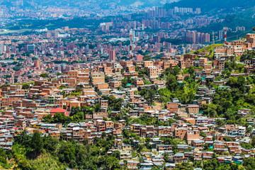 Aerial view of Latin American city