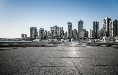 Fototapete - empty parking lots