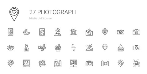 photograph icons set