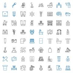 tube icons set