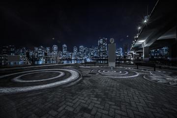 Fototapete - empty concrete square floor