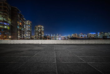 empty concrete square floor Fototapete