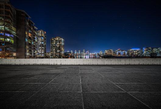 empty concrete square floor
