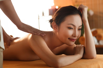 The young woman do spa