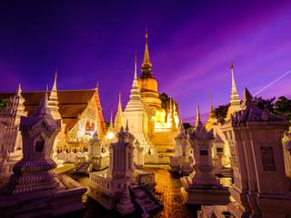 Pagoda with sunset (Thailand)