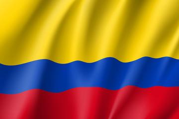 Waving flag of Columbia