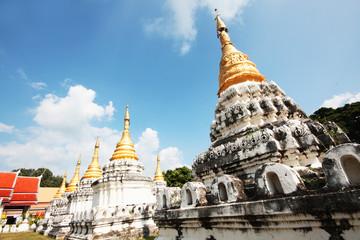 Golden pagoda at Wat Prathat Lampang Luang temple located in Lampang Province, Thailand.
