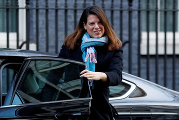 Britain's Minister of State for Immigration Caroline Nokes is seen outside of Downing Street in London