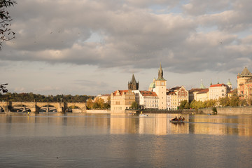 Prague at sunset,