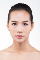 Asian Woman after applying make up hair style