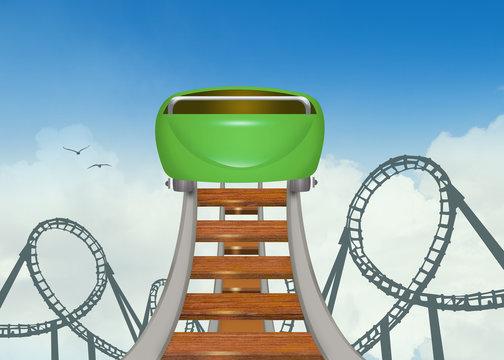 illustration of roller coaster