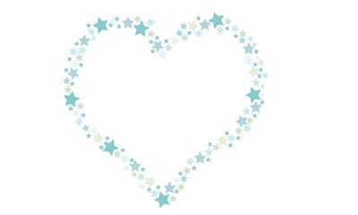 Herzrahmen aus Sternen
