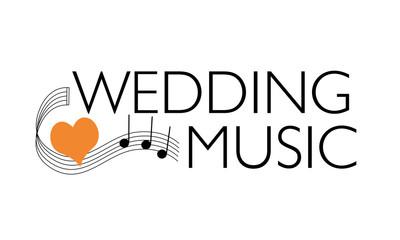 Titelbild für Hochzeitsmusik - geschwungene Noten mit Herz