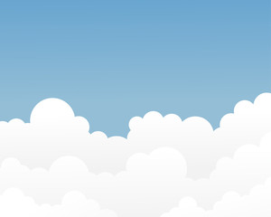 Cloud on blue sky vector background illustration