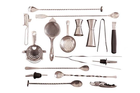 Set of barman equipment