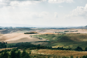 Beautiful summer landscape of green Tuscany, Italy