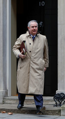 Britain's Attorney General Geoffrey Cox is seen outside of Downing Street in London