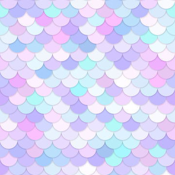 Multicolor backdrop with rainbow scales. Kawaii mermaid princess pattern. Sea fantasy invitation for girlie party.