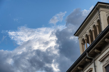 Vigevano, italy: cloudscape at evening
