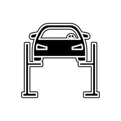 car lift icon. Element of Cars service and repair parts for mobile concept and web apps icon. Glyph, flat line icon for website design and development, app development