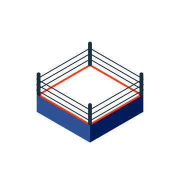 Empty boxing ring icon. Clipart image isolated on white background