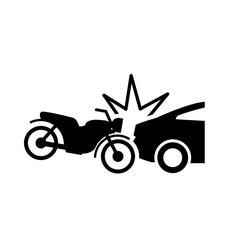 Motorbike accident icon. Clipart image isolated on white background