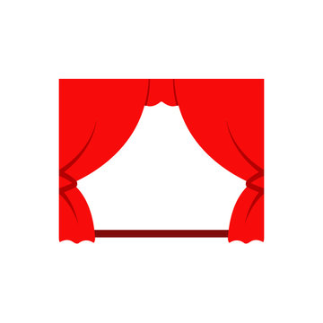 Movie theater curtain icon. Clipart image isolated on white background