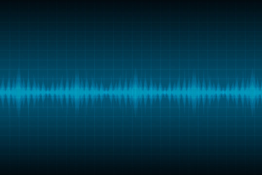 Sound waves oscillating glow light, Abstract technology background. vector illustration