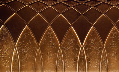Abstract elegant art deco geometric ornamented brown textured background