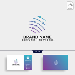shield protection network logo template vector illustration icon element