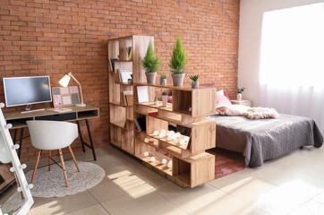 Fototapeta Interior of modern studio apartment obraz